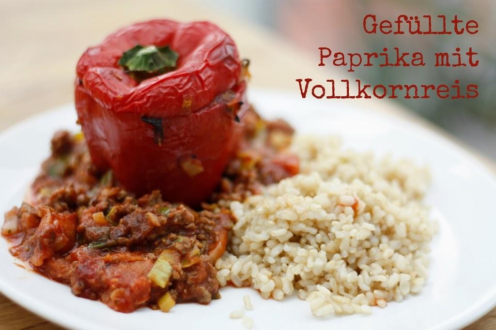 Gefüllte Paprika mit Vollkornreis - Kochliebe