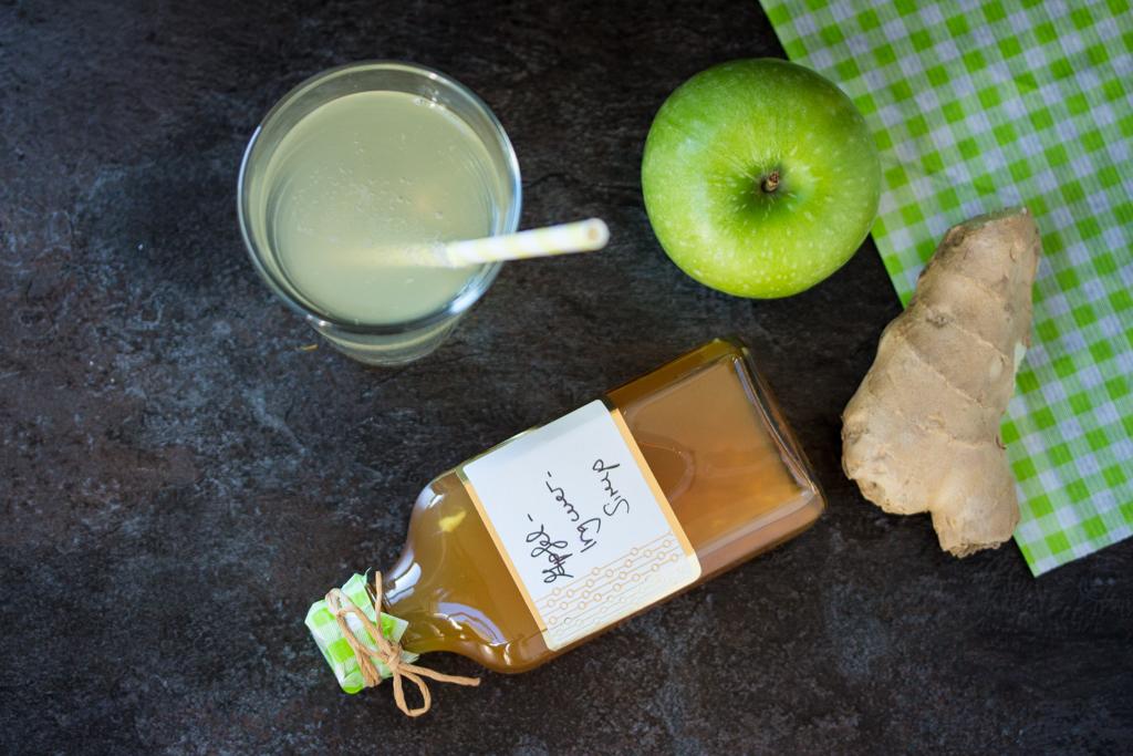 Apfel Ingwer Sirup 4