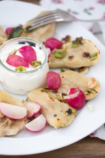 Kartoffel-Vareniki mit Sauerkraut